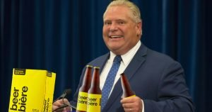 Doug Ford chugs several cases of $1 beer in latest COVID-19 update press conference